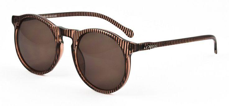 Le Specs LS Bojangles-brown stripe 499 SEK #lespecs http://www.loveyewear.se/solglasogon/le-specs-ls-bojangles-brown-stripe-svart-brun/