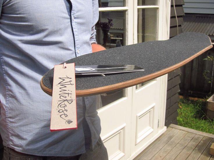 White Rose Mini-pin with a kick  Custom made carbon fibre longboards  Whiteroselongboards.com