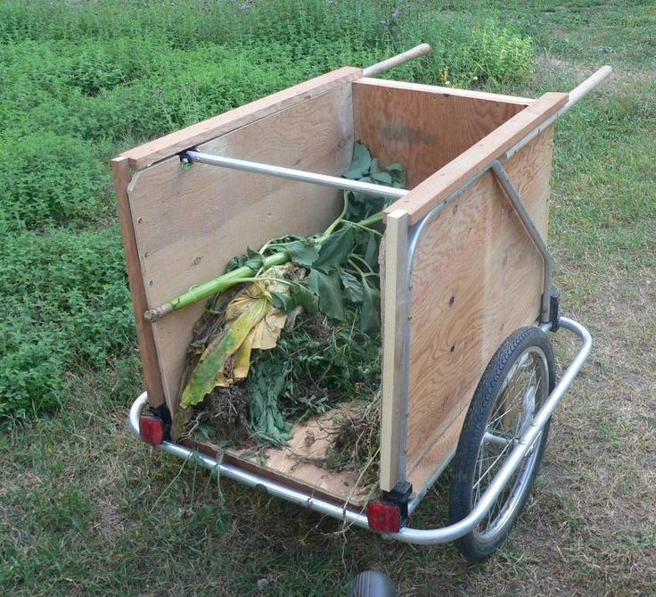 garden pompous bike trailer