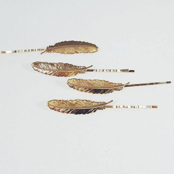 Haarklammern - Haarklammer Feder  - ein Designerstück von faitmaison bei DaWanda