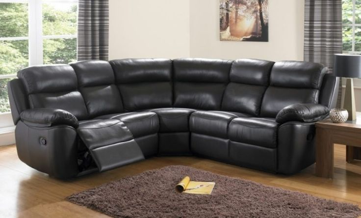 Awesome Black Top Grain Leather Modular Corner Sofa With Adjustable Footrest As Well As Leather Sectional Sofa Also Sectional Furniture Ideas