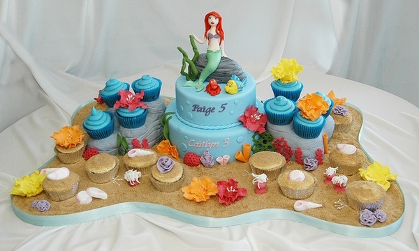 Ariel The Little Mermaid Cake little-mermaid-party