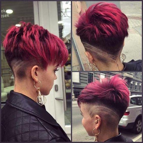 Haare sidecut frauen kurze Mittellange Undercut