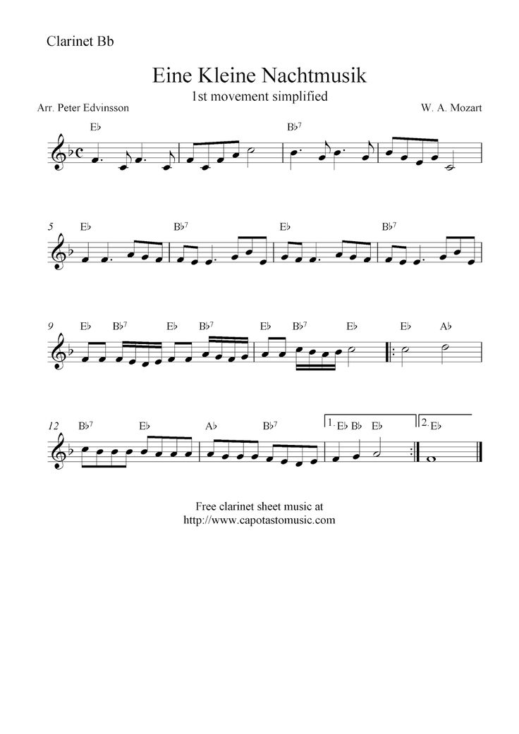 The  Best Free Clarinet Sheet Music Ideas On   Free