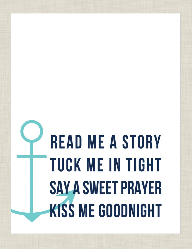 Abby and i... Every night. Nautical Nursery Print by prettygirlshop on Etsy, $8.00