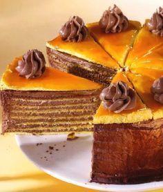 Торт Добош, прославленный своим великолепным вкусом, и необычной, начинкой. Торт не портится и сохраняет свежесть в течение десяти дней.Автор торта - известный венгерский кондитер и владелец магази…