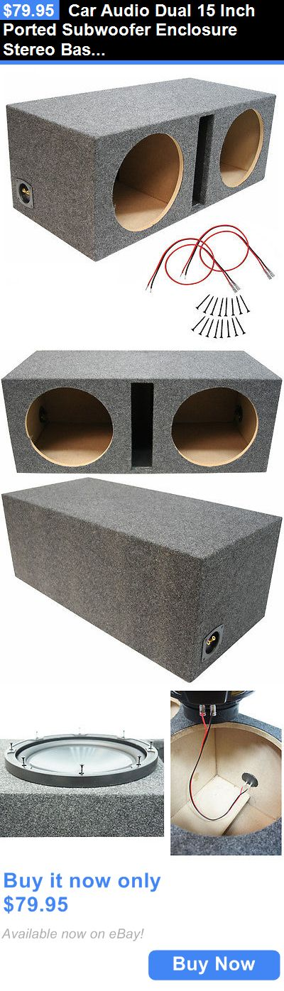 Speaker Sub Enclosures: Car Audio Dual 15 Inch Ported Subwoofer Enclosure Stereo Bass Speaker Sub Box BUY IT NOW ONLY: $79.95