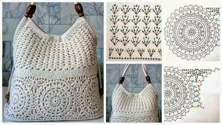 Crochet y dos agujas: Fantástico bolso tejido al crochet ...