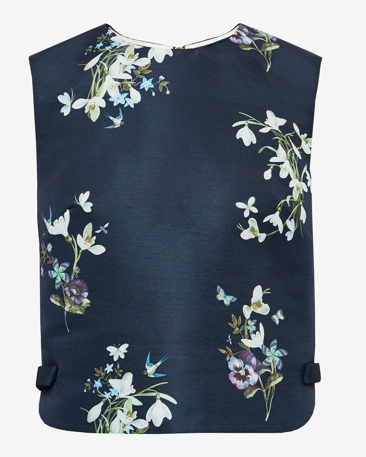Entangled Enchantment cropped top - Dark Blue | Tops & Tees | Ted Baker