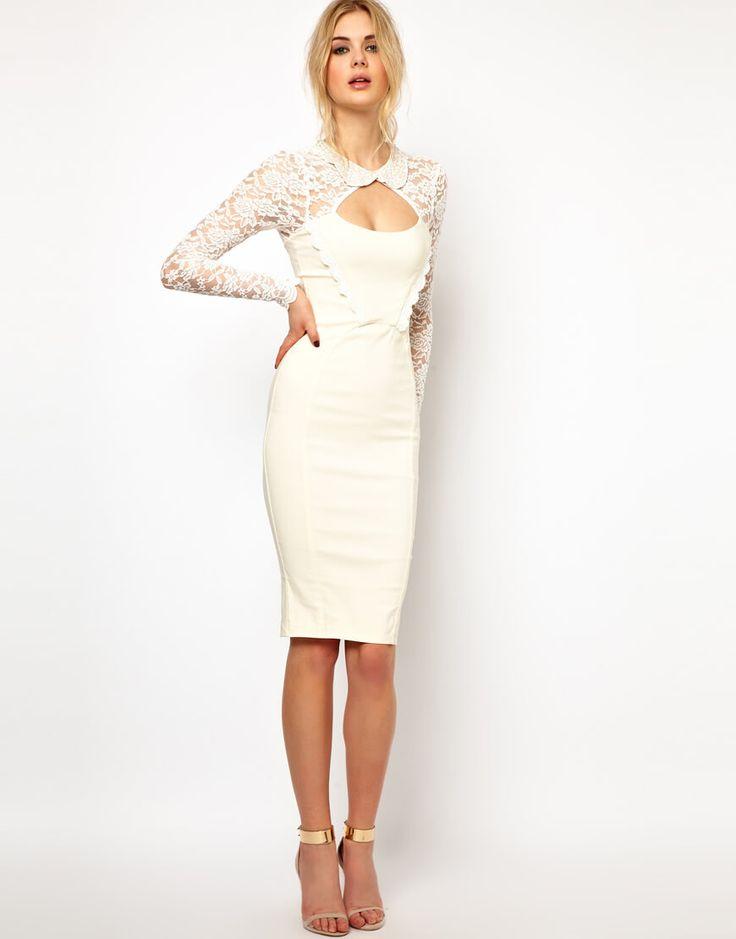 Белое платье-футляр (91 фото): с чем носить, на свадьбу, с кружевом, классическое