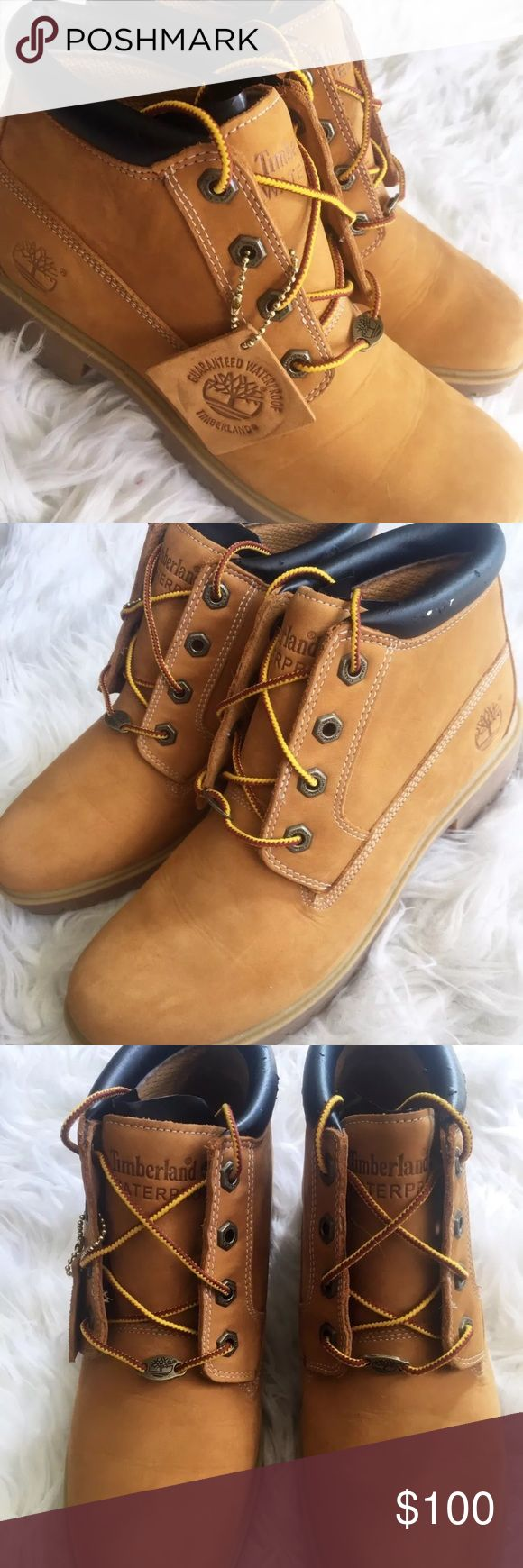 Timberland Nellie Boots Womens 8.5 Wheat Chukka Timberland Nellie Boots Womens 8.5 Wheat Chukka Waterproof Leather/ Some nicks on ankle cushion (see photos) Timberland Shoes Ankle Boots & Booties