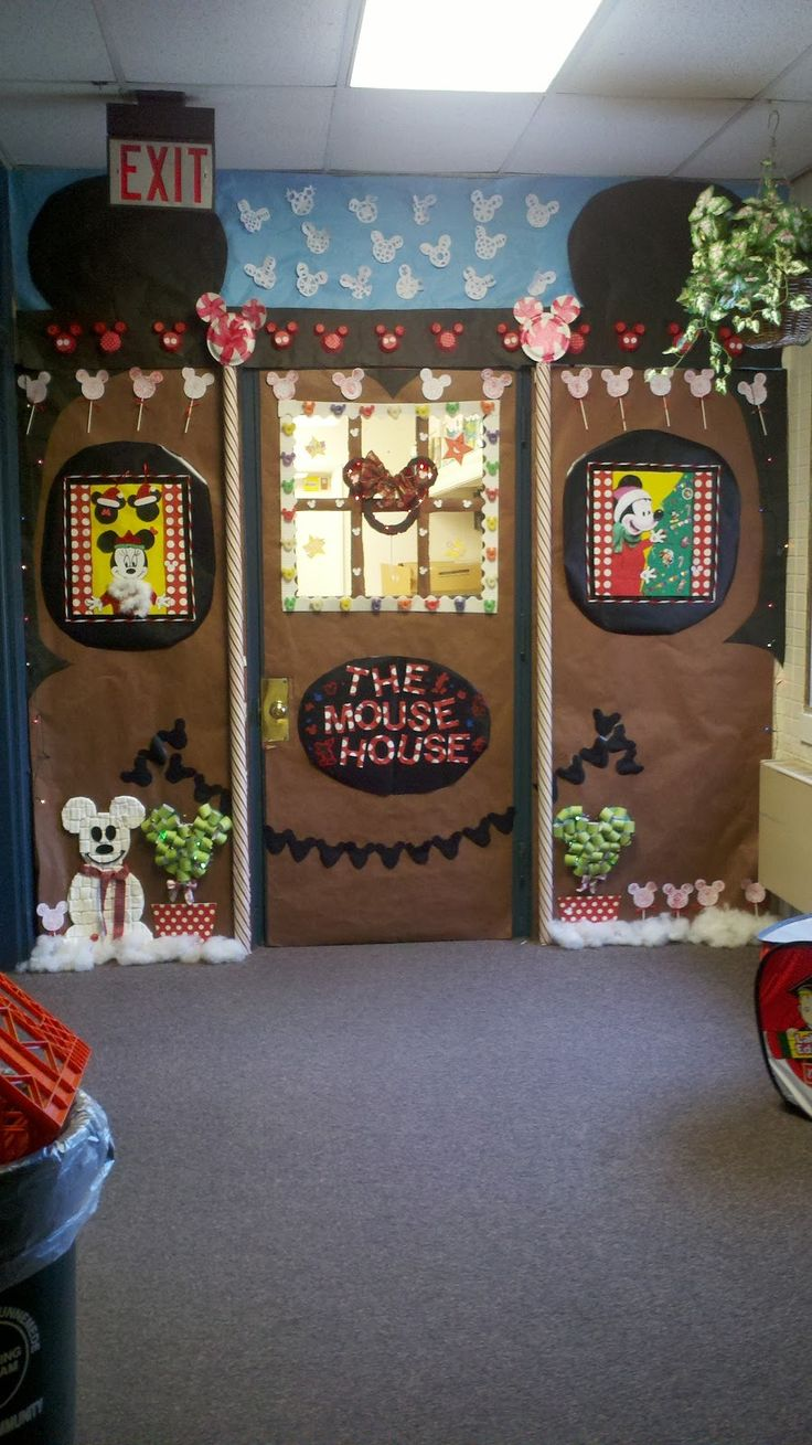 Mickey Christmas Door Kindergarten Classroom Door