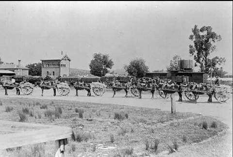 Spencer Street Station, 1860s.