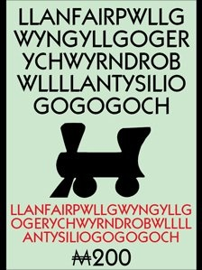 "Llanfairpwllgwyngyllgogerychwyrndrobwllllantysiliogogogoch - name of town on Anglesey island, Wales.  translates into English as ""St Mary's Church in the hollow of the white hazel near the rapid whirlpool and the church of St Tysilio near the red cave""."