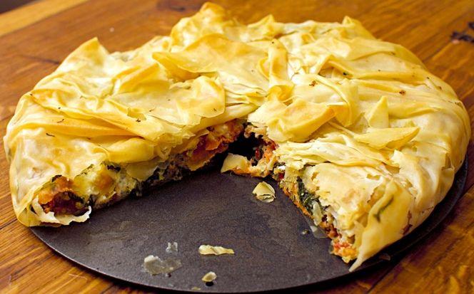 wedding buffet menu: Vegetarian filling pie