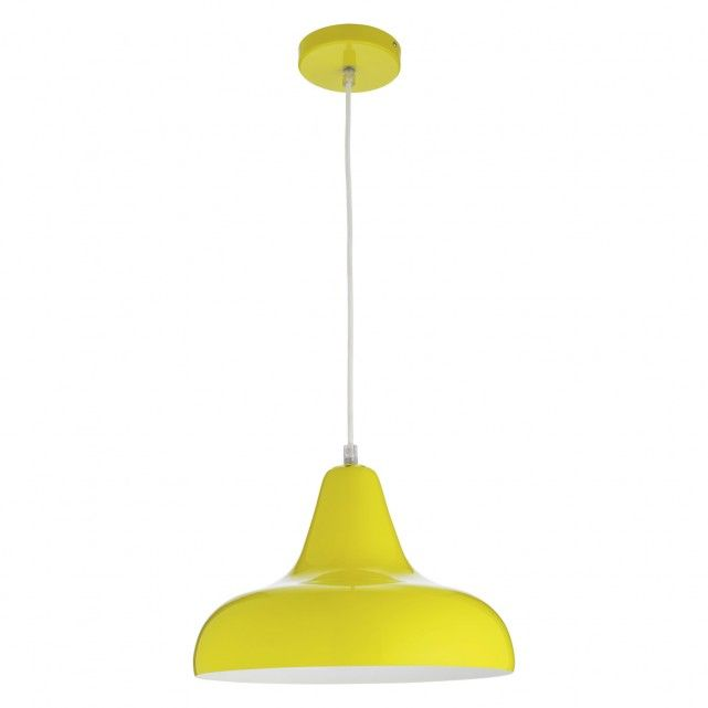 AERIAL Yellow metal ceiling light