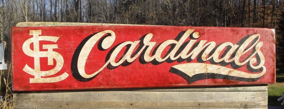 St Louis Cardinals baseball Sign wooden by ZekesAntiqueSigns, $98.00