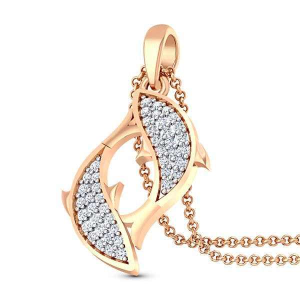 Kifi Diamond Pendant #DiamondGift #FishPendant
