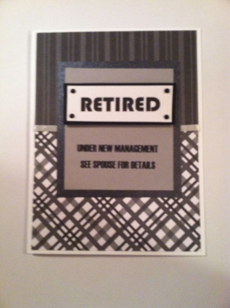 Superior Ideas For Retirement Cards To Make Part - 3: Retirement Card