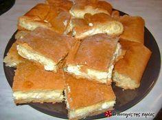 Σιμιγδαλένια τυρόπιτα με ζύμη κουρού