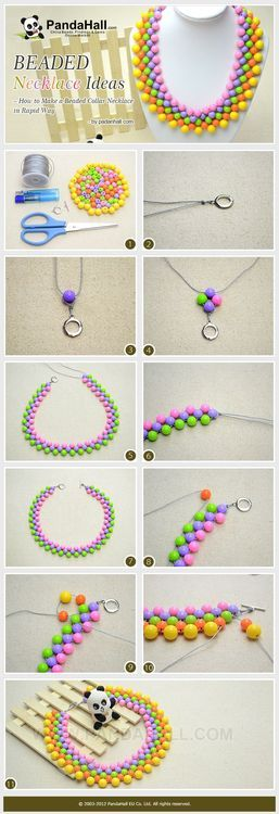 Jewelry Making Tutorial-How to Make Beaded Collar Necklace in Rapid Way | PandaHall Beads Jewelry Blog