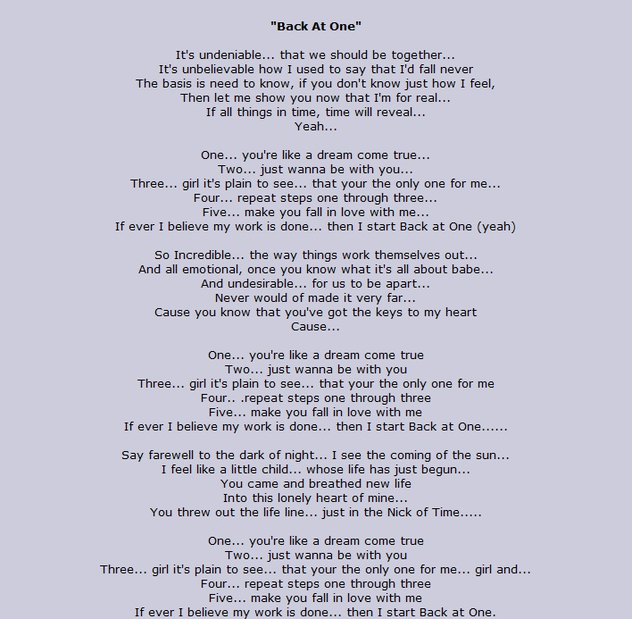 Brian Mcknight Wedding Songs
