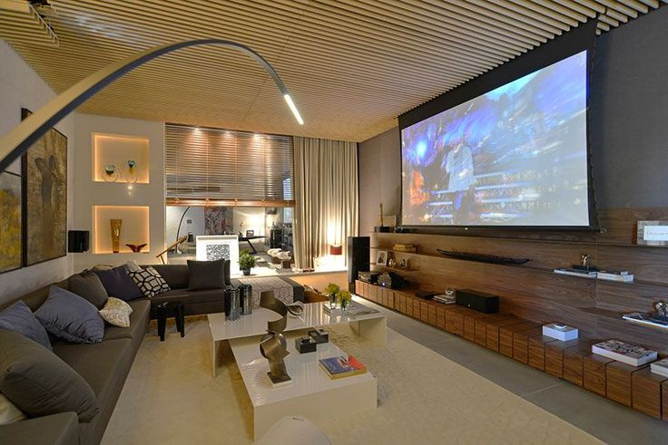 Sala Tv Com Home Theater ~ sala tv  Salas estar  jantar  Pinterest  Love this, Design and I
