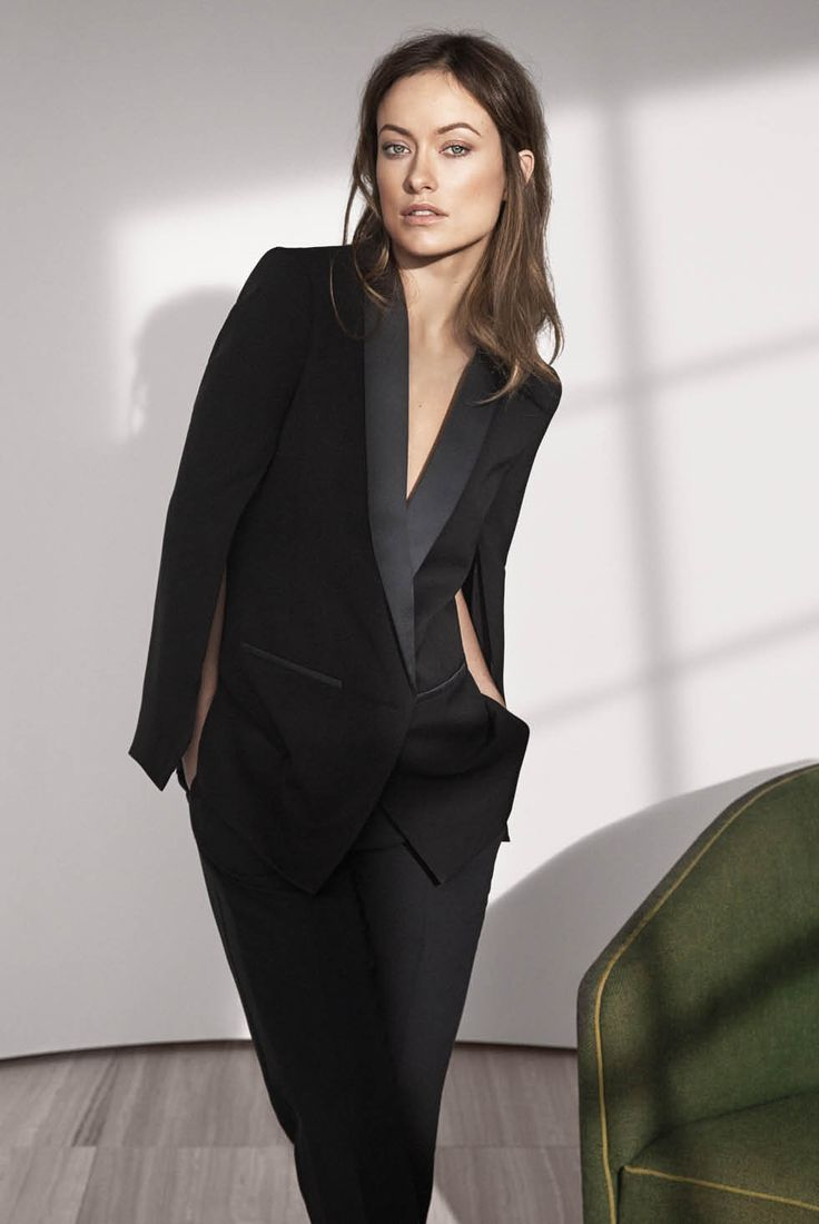 HM Conscious Exclusive Sustainable Fashion Olivia Wilde Blazer in organic silk