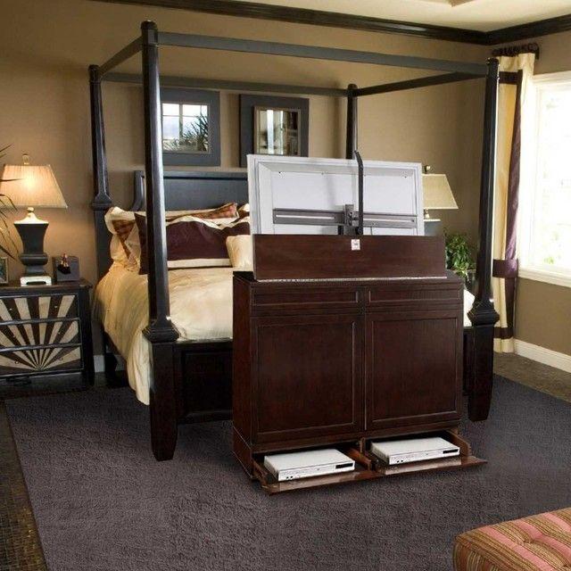 bedroom tv lift cabinet