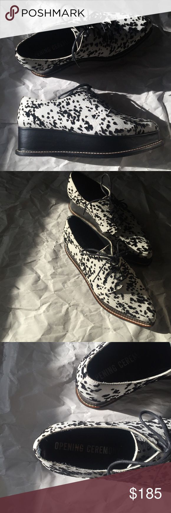opening ceremony creepers #leather #animalprint #openingceremony #creepers Opening Ceremony Shoes Platforms