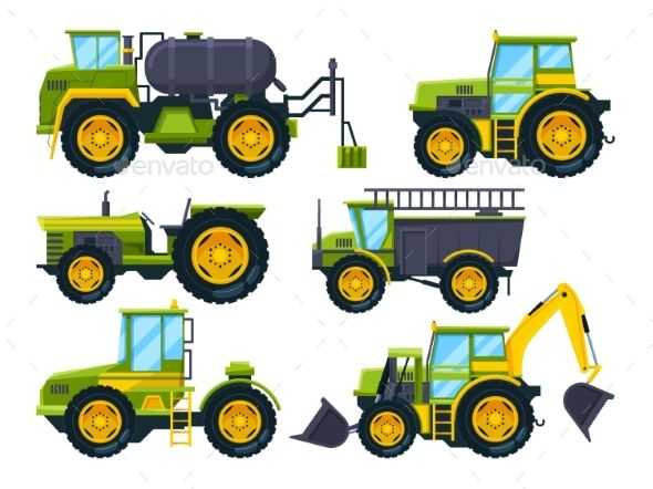 Agricultural Machinery | Cartoon styles, Colorful pictures, Cartoon