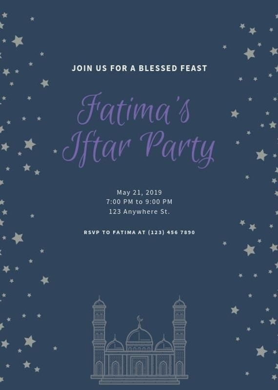 Custom Iftar Invitations Etsy Iftar Ramadan Background Iftar Party