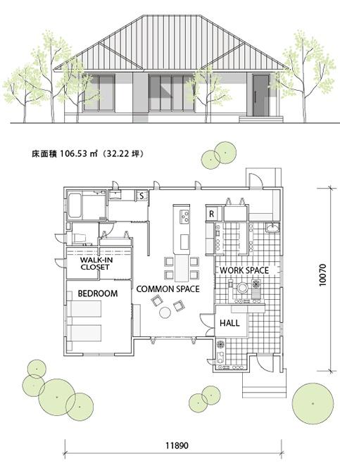 間取り・プラン01|平屋を楽しむ|注文住宅|ダイワハウス