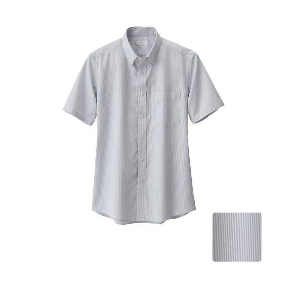 MEN Dry Easy Care Stripe Short Sleeve Shirt