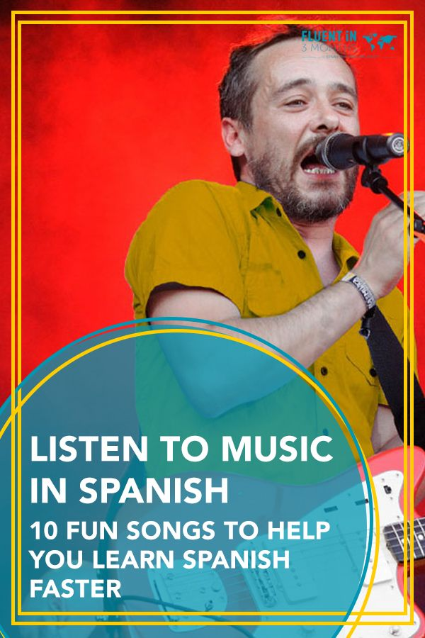 i like to listen to music in spanish