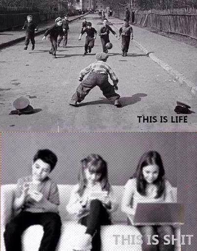 live #then and #now
