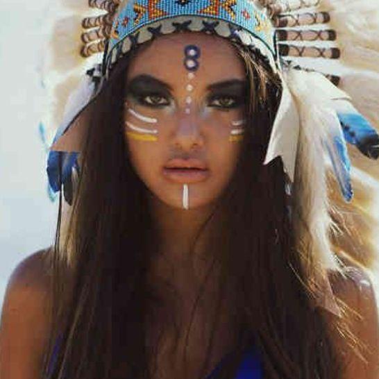 best 25 native american makeup ideas on pinterest indian makeup halloween fasching schmuck. Black Bedroom Furniture Sets. Home Design Ideas