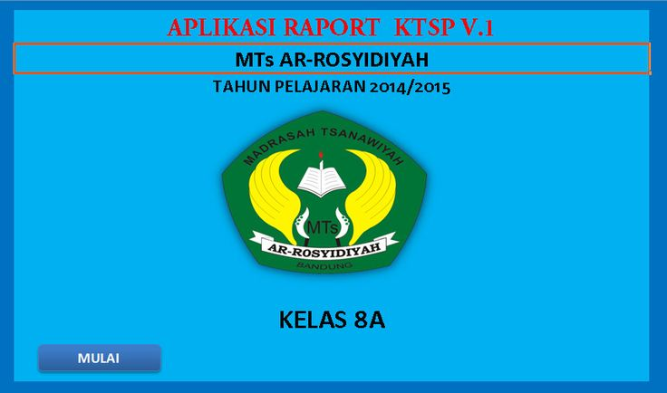 (Blogedukasi) Software Raport MTs KTSP Aplikasi Excel Free Download [Dokumen Pendidikan]