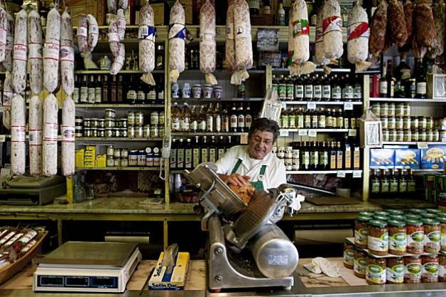 These 3 Cassic San Francisco Delis still going strong: Molinari Delicatessen on Columbus, Lucca Ravioli Co. on Valencia & Lucca Delicatessen at the Marina on Chestnut