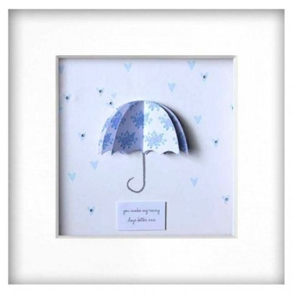 Blue Rainy Days Picture - £30  Perfect for a little boys nursery/bedroom or cloakroom
