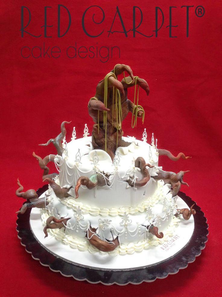 Red Carpet Cake Designs