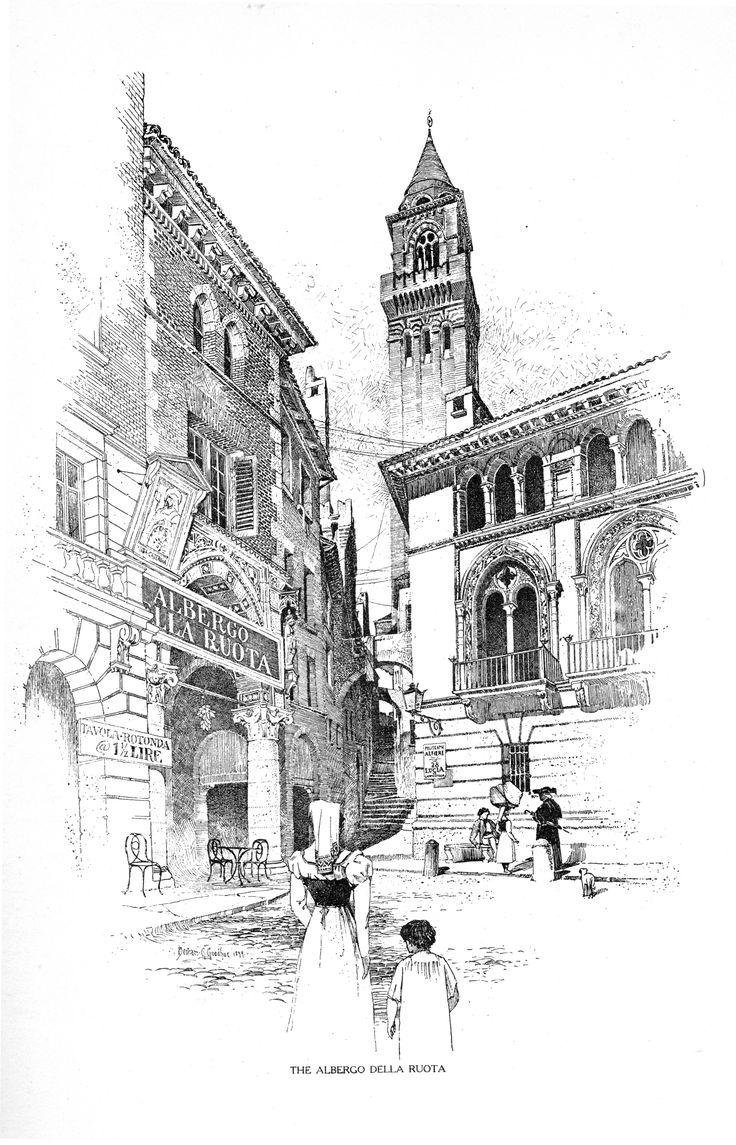 Bertram Grosvenor Goodhue, Architect (1869-1924) Monteventoso. The Allbergo Dell Ruota