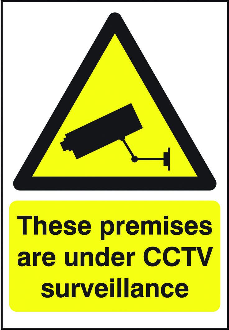 CCTV Surveillance sign. Beaverswood Identification