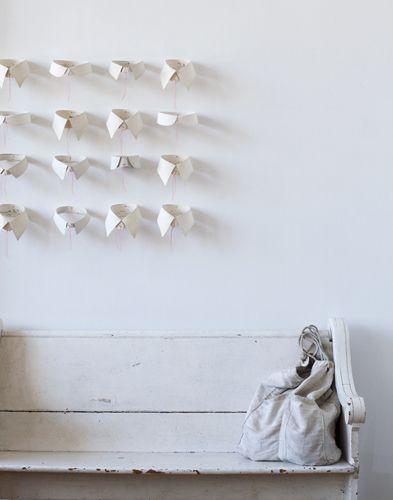 : White Collars, Wall Decor, Merch Inspiration, Shirts Collars, Decor Inspiration, Display Ideas, Dots, Paper Crafts, Wall Ideas