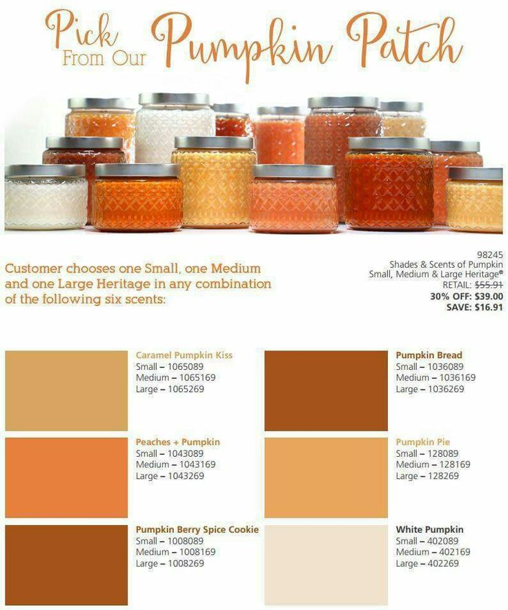 Create your own pumpkin patch in your home! Choose any 3 candles one small one medium and one large for only $39. Mix and match your scents if you want. Go to www.melissagifford.mygc.com