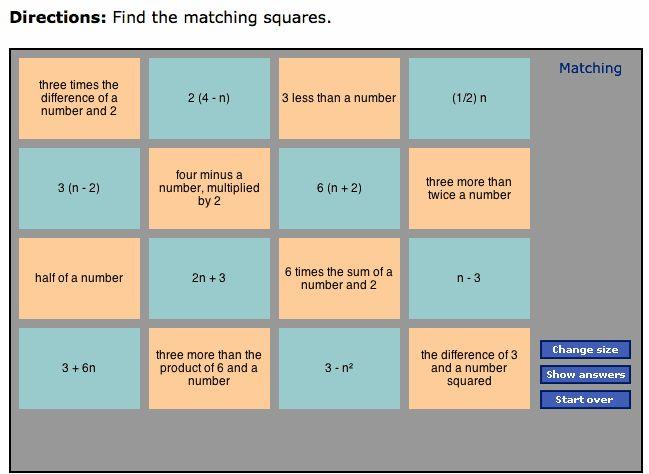 Best 25+ Example Of Algebraic Expression ideas on Pinterest ...