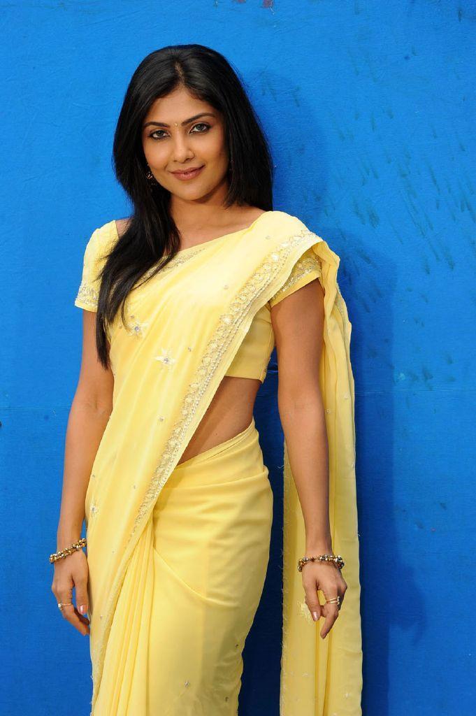 Beautiful Indian Actress Nagma In Yellow Saree | Saree ...