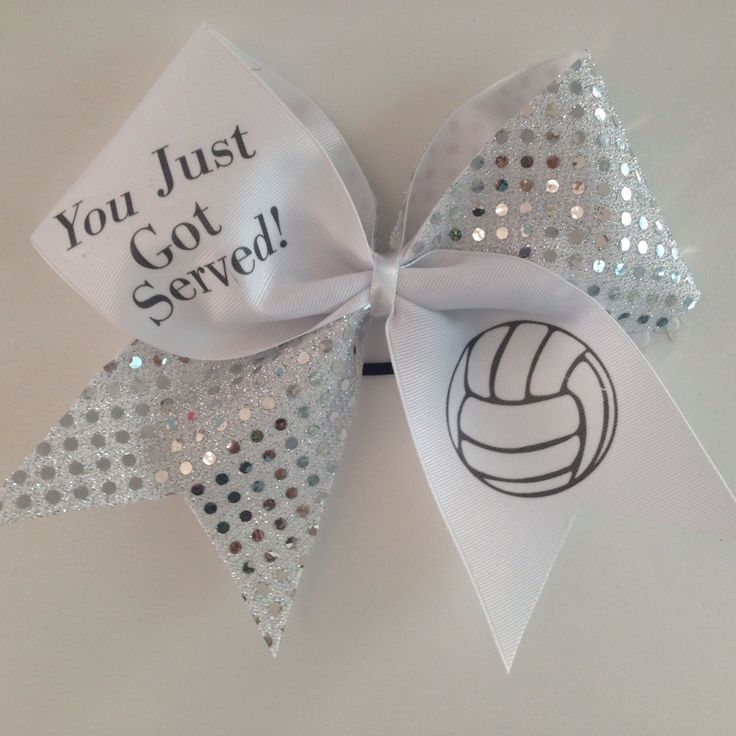 Volleyball Cheer bow by MyBowality on Etsy