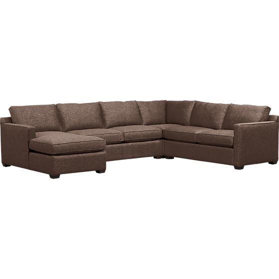 Davis 4-Piece Sectional Sofa  | Crate and Barrel