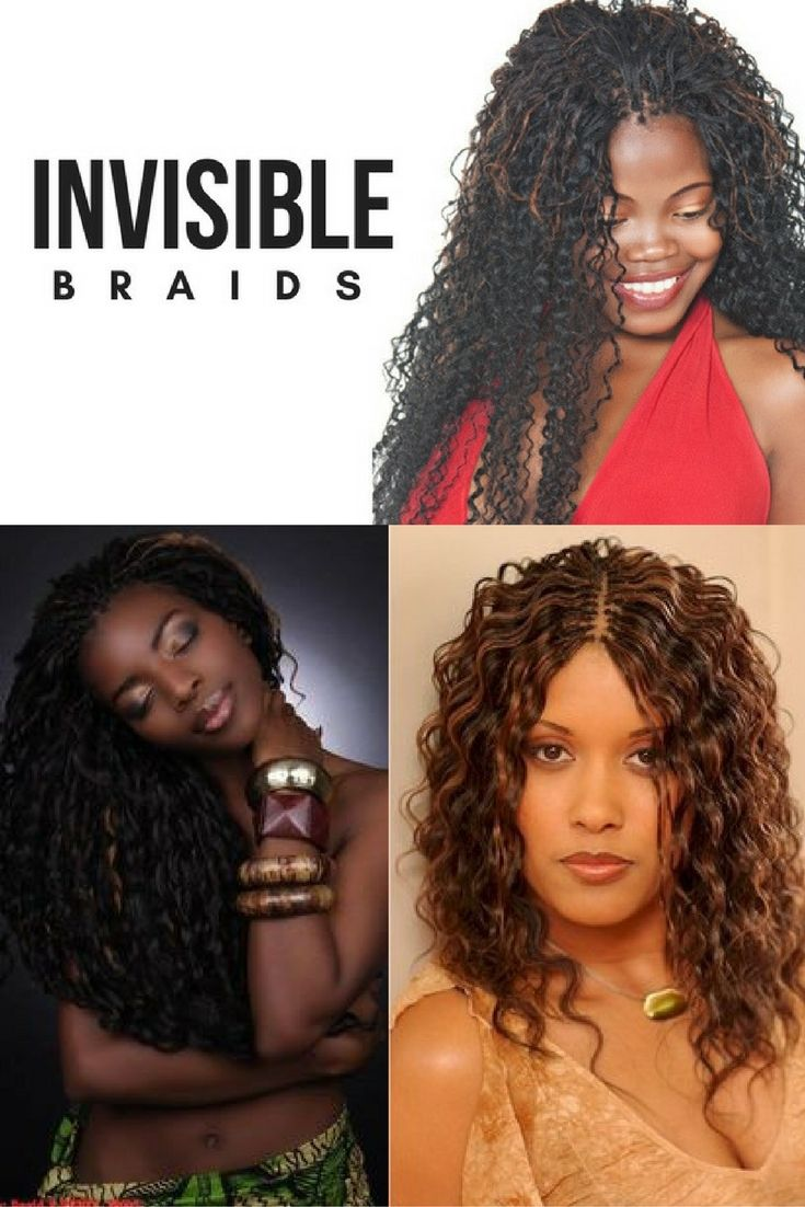 Invisible braids on natural hair are an excellent alternative to sew-in weaves, wigs and clip-in extensions. They're an option for those who love the look of gorgeous long hair but don't want to wait the months or years it can take for their own hair to grow.